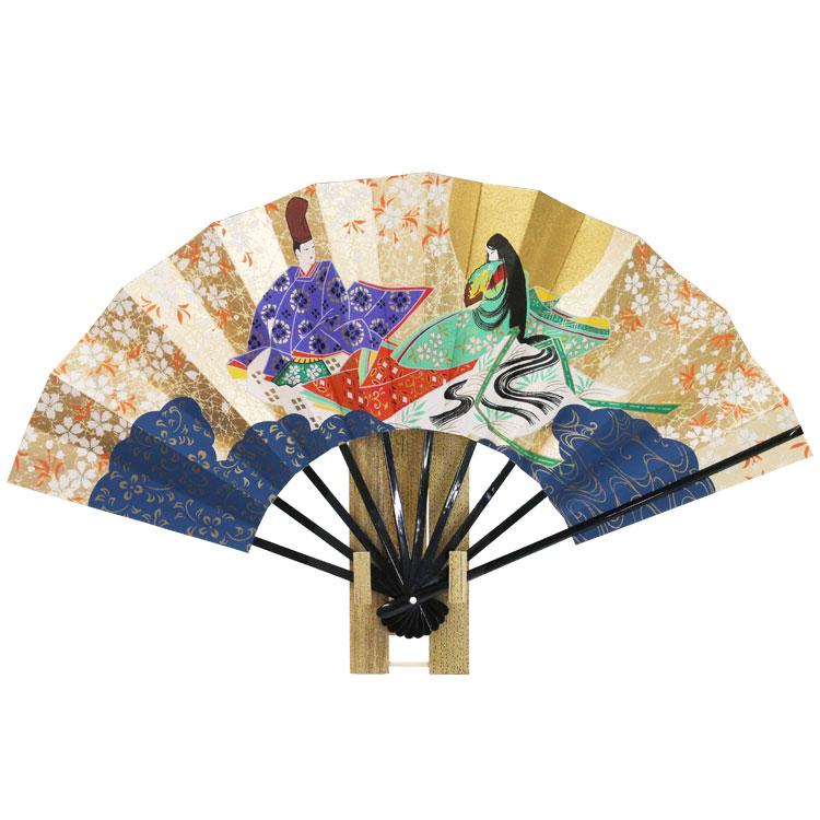 源氏物語の優美な世界観を表現した京扇子です。