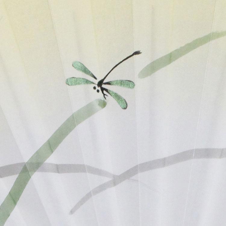 扇面アップ 蜻蛉
