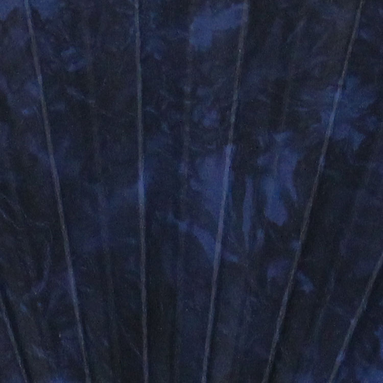 扇面アップ ブルー