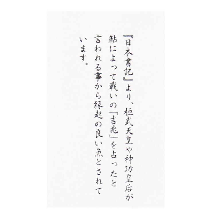 由来カード 鮎(あゆ)