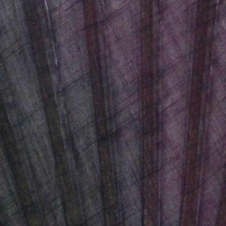 扇面アップ 黒紫