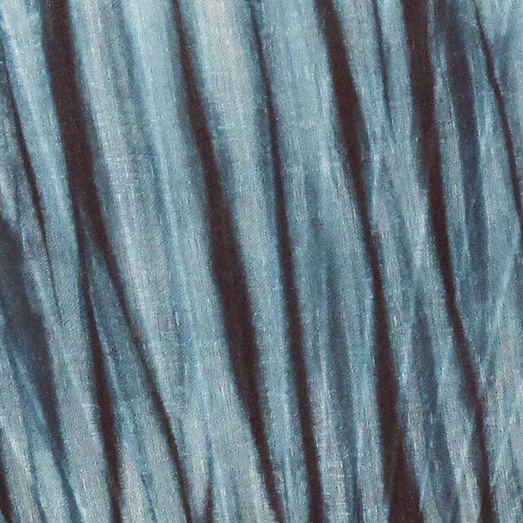 扇面アップ 藍染