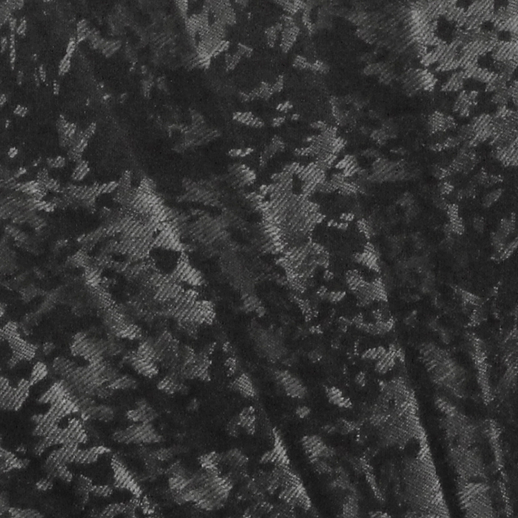 立体的なジャガード織りの模様が入った扇面。