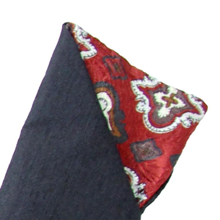 扇面と同じジャガード生地を内側に使った扇子袋