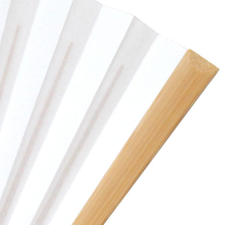 白の扇面に合わせた白竹の扇骨です。