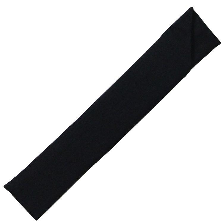 扇子袋はシンプルな黒の無地です。
