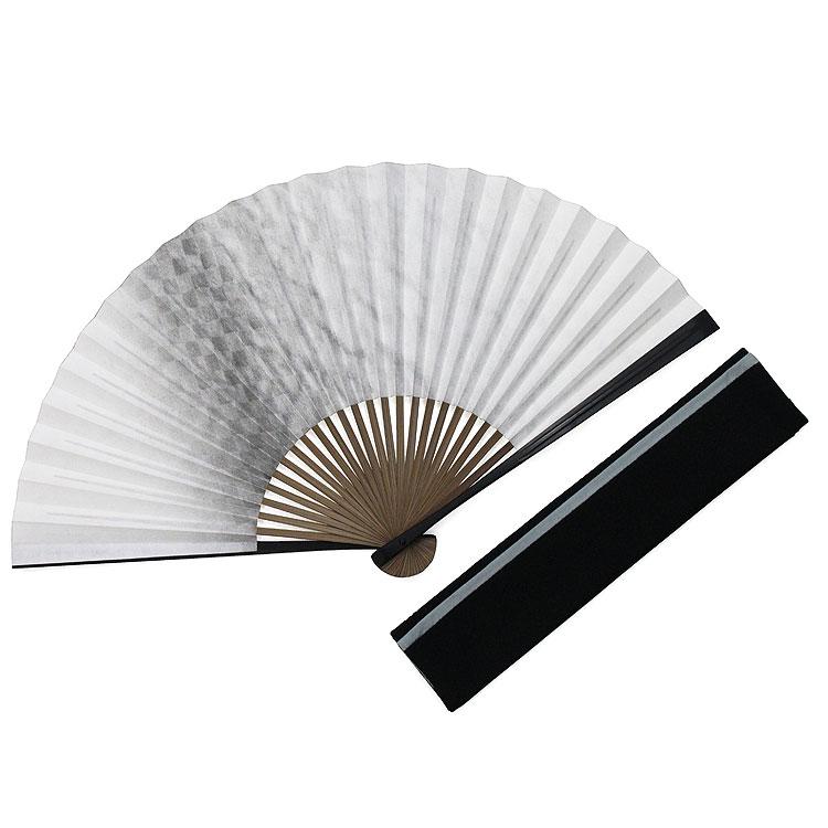 白竹堂 男性用 黒谷和紙扇子セット 全3種類