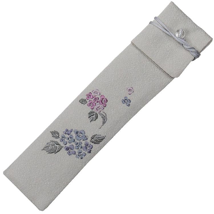 扇子袋 紫陽花