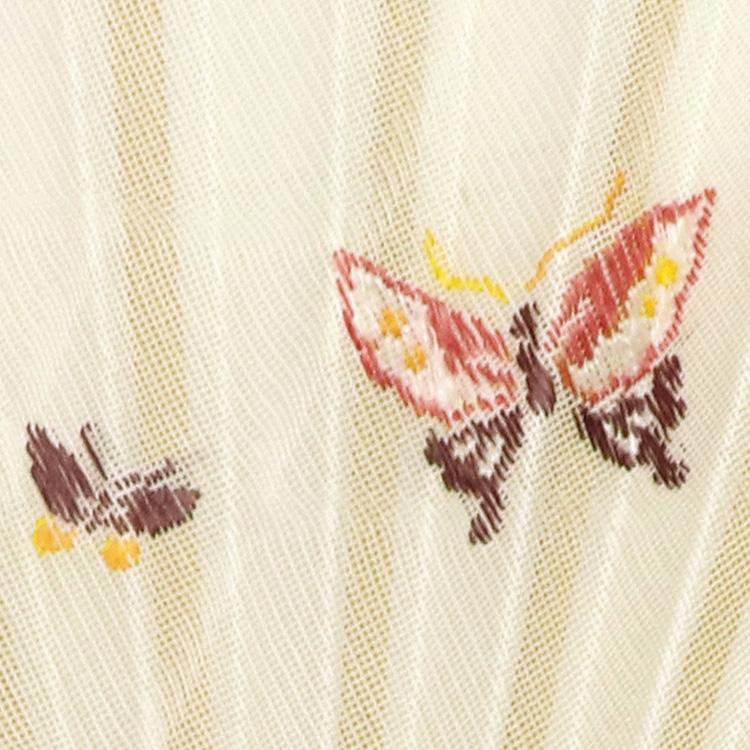 うっすらと透ける地模様と、ワンポイントのモチーフ。西陣織ならではの「紗」の質感をお愉しみ下さい。