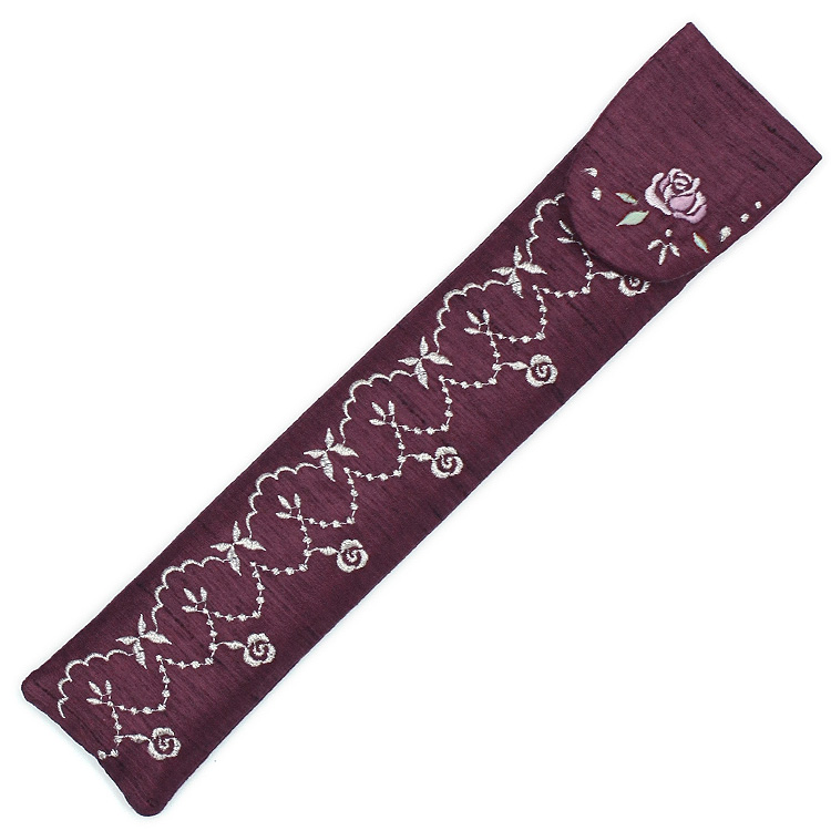 扇子袋 親紫檀(ワイン)