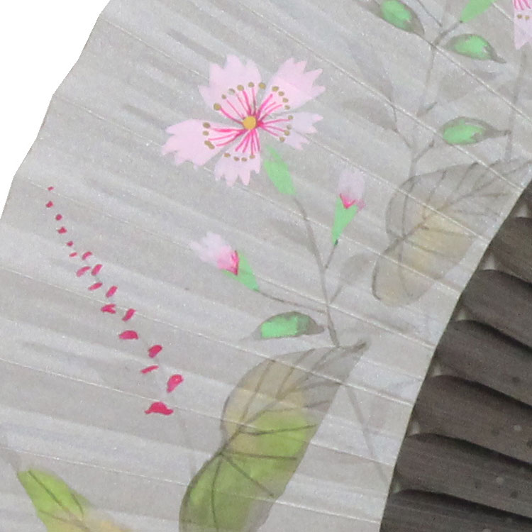 ひとつひとつ丁寧に描かれた花が描かれています。