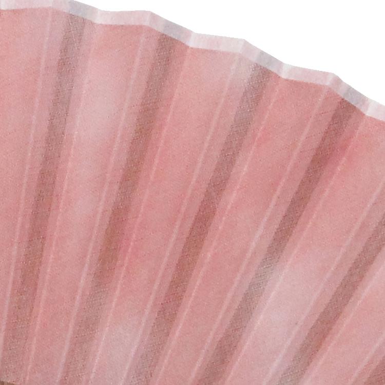 扇面 ピンク(茜染