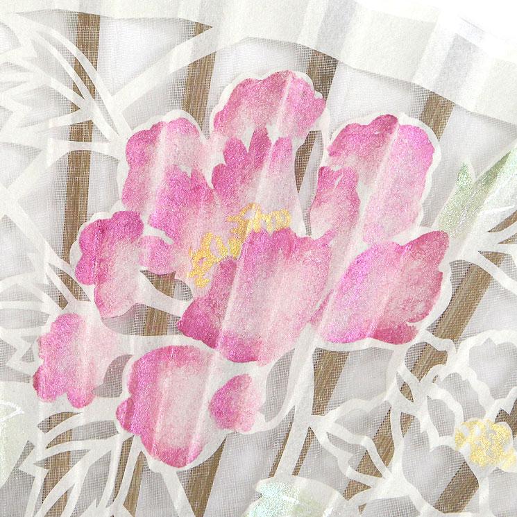 扇面アップ 紫陽花