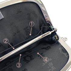 内側には4カ所のポケットが付いており用途別の仕分けも簡単。
